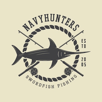 Emblema de rótulo de pesca