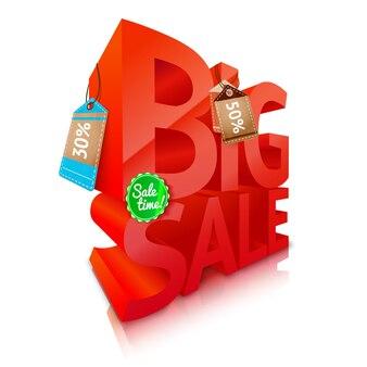 Emblema de texto grande venda