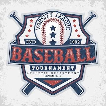 Emblema de tipografia de beisebol
