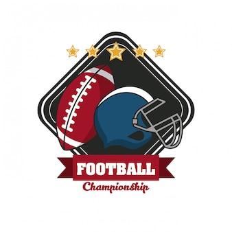 Emblema de torneio de campeonato de esporte futebol