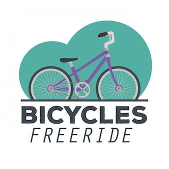 Emblema de uma ilustração de bicicleta