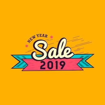 Emblema de venda de ano novo