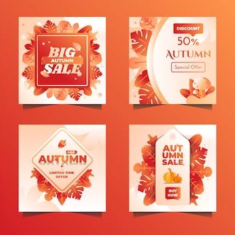 Emblema de venda de outono