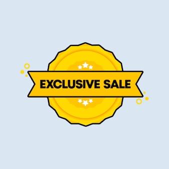 Emblema de venda exclusivo. vetor. ícone de selo de venda exclusiva. logotipo do crachá certificado. modelo de carimbo. etiqueta, etiqueta, ícones.