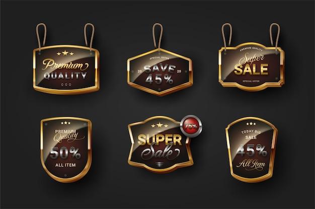 Emblema de venda realista
