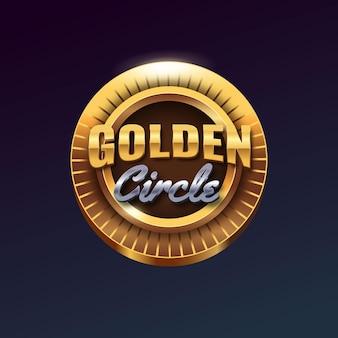 Emblema de vetor dourado realista