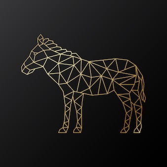 Emblema de zebra geométrica de vetor.