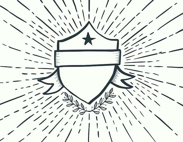 Emblema desenhado estilo ..