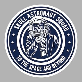 Emblema do astronauta do crânio