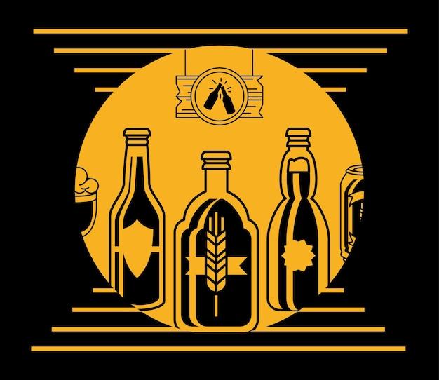 Emblema do bar de cerveja