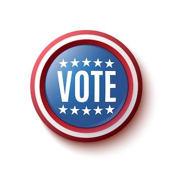 Emblema do botão de votação isolado no branco
