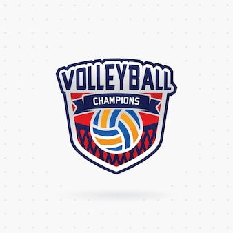 Emblema do campeonato de voleibol