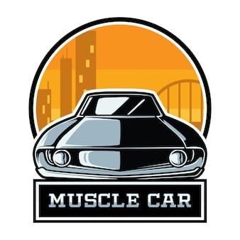 Emblema do carro muscular