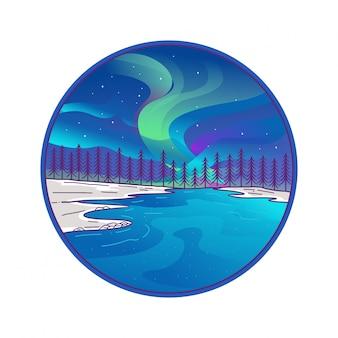 Emblema do círculo de aurora