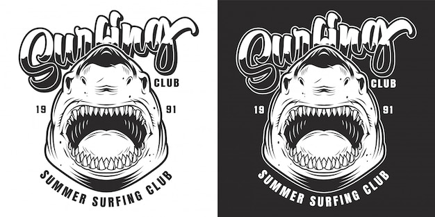 Emblema do clube de surf vintage