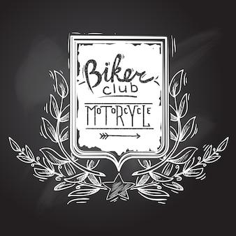 Emblema do clube do motociclista