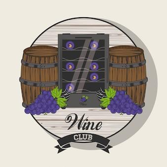 Emblema do clube do vinho