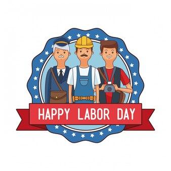 Emblema do dia do trabalho feliz