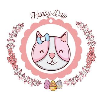 Emblema do dia feliz