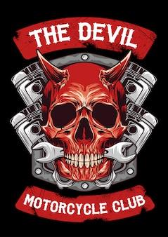 Emblema do diabo e pistão