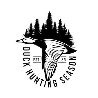 Emblema do emblema de caça ao pato selvagem