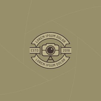 Emblema do fotógrafo ou rótulo