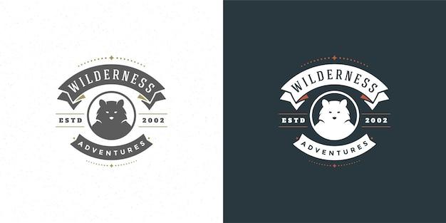 Emblema do logotipo da cabeça de urso