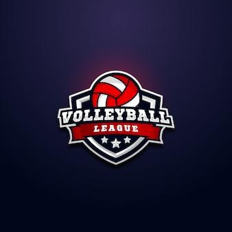 Emblema do logotipo da liga de voleibol