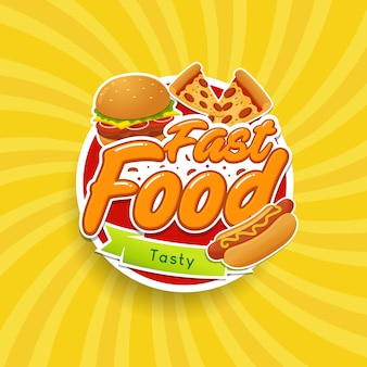 Emblema do logotipo de fast-food