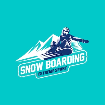 Emblema do logotipo de snowboard