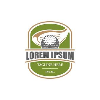 Emblema do logotipo do clube de golfe