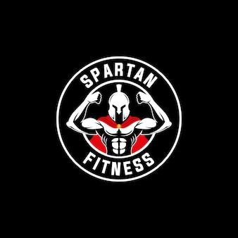 Emblema do logotipo do guerreiro espartano esportes fitness