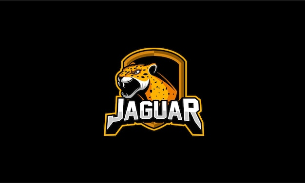 Emblema do logotipo do jaguar zangado