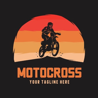 Emblema do logotipo do motocross freestyle