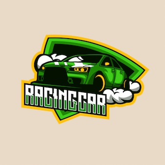 Emblema do logotipo do racing car speed esports