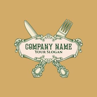 Emblema do logotipo do restaurante