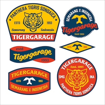 Emblema do logotipo do tigre