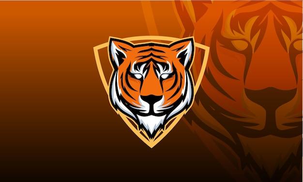 Emblema do mascote cabeça de tigre