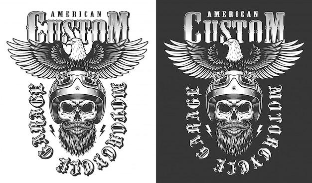 Emblema do motociclista com águia