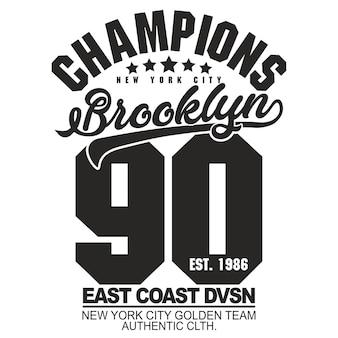 Emblema do new york sport brooklyn vintage