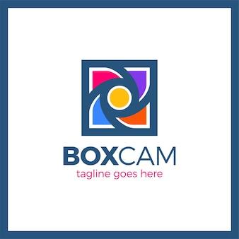 Emblema do obturador da câmera de cor quadrado