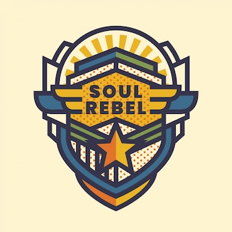 Emblema do rebelde da alma