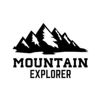 Emblema do turismo de montanha. elemento de design para logotipo, etiqueta, sinal, cartaz.