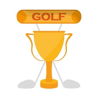 Emblema dos clubes de troféus dourados do golfe