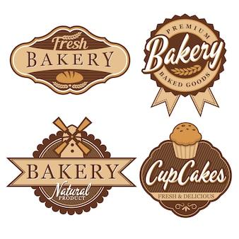 Emblema e rótulos de padaria