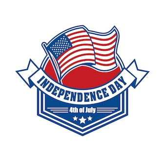 Emblema e símbolo para o dia da independência dos eua