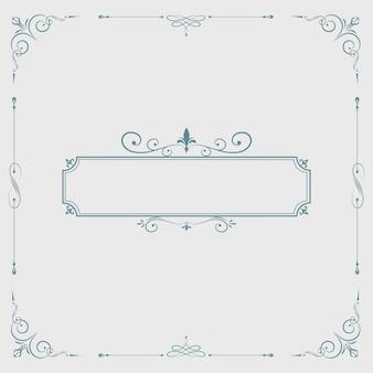 Emblema em branco de redemoinho vintage