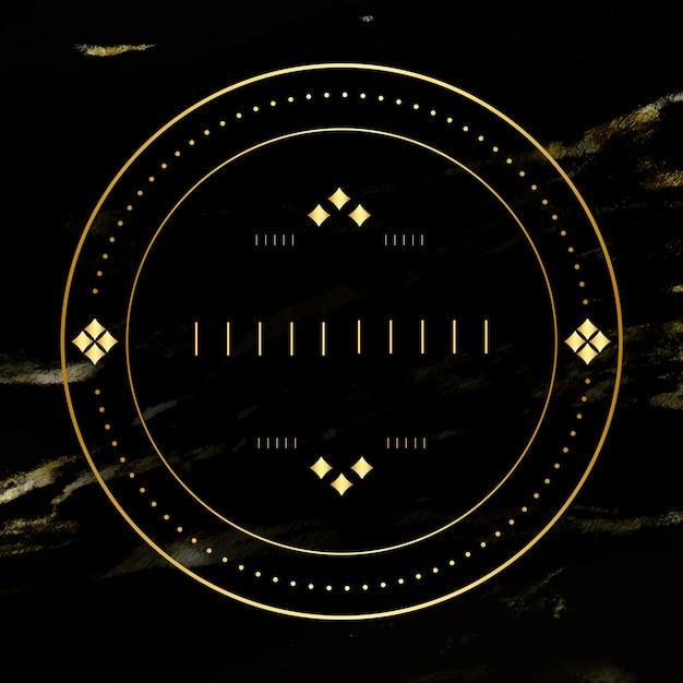 Emblema em branco dourado