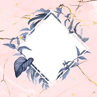 Emblema em branco floral