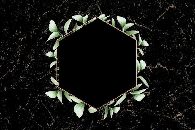 Emblema em folhagem